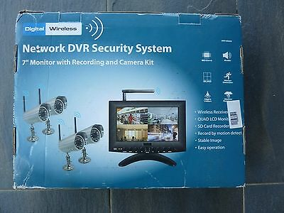 """7"""" LCD  wireless CCTV DVR  monitor home security video system camera"""