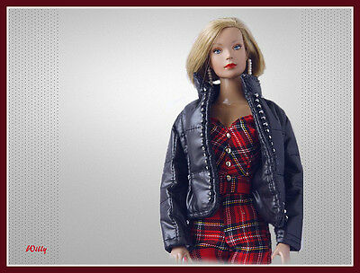 Trendy  ! Black Winter Jack  With A Jumpsuit Made Of Scottish Tartan Fabric '16