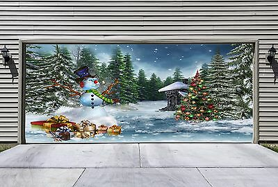 Christmas Garage Door Covers 3d Banners Outside House Decorations Outdoor GD30