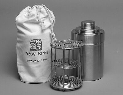 B&W KING 5X7' Format Stainless Steel Film Developing Tank (Install 6 film)