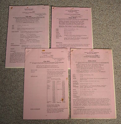 4 official BR(S) incident reports, Winchester, Southampton area 1960s
