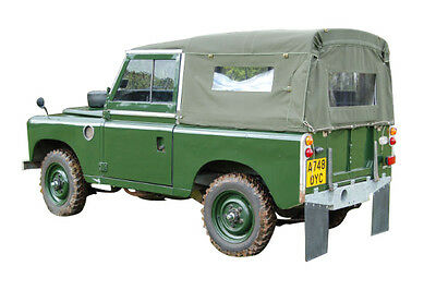 "Land Rover Series 2 & 3 Full 88"" Hood Khaki, With Side Windows- 24 Hour Despatch"