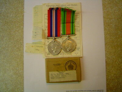 1939-45 Defence Medal & War Medal Pair With Box