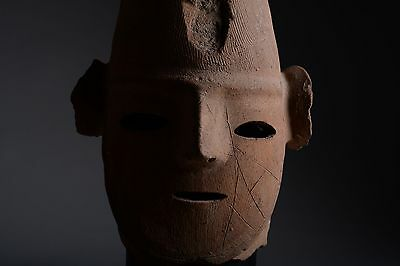 Superb Ancient Japanese Kofun Haniwa Head - 300 AD