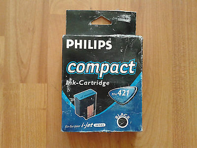 ORIGINAL PHILIPS PFA 421 BLACK COMPACT INK CARTRIDGE FOR i-jet SERIES. NEW.