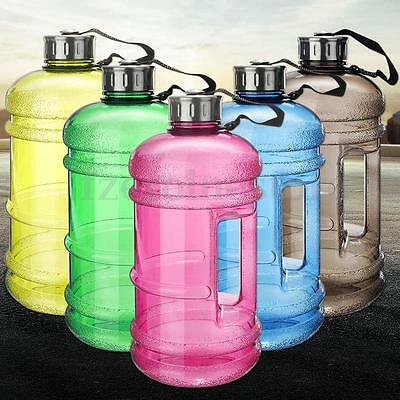 2.2L Liter Half Gallon 73oz BPA Free Big Large Training Gym Water Bottle Handle