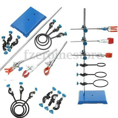 11 Pcs Laboratory Stands,Support and Lab Clamp,Flask Clamp,Condenser Clamp,Stand