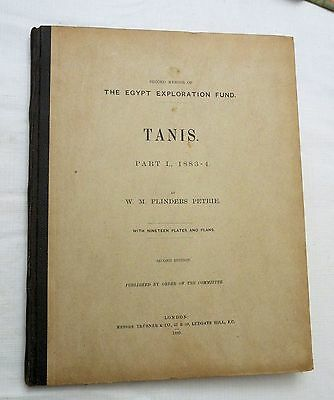 1889 Egyptian archeology book TANIS PART I, 1883-4 by Petrie