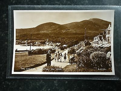 Postcard Real Photo Valentine's The Gardens Newcastle Co Down Great View