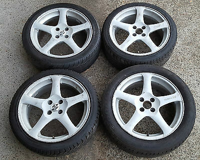 Speedy Holotype R alloy wheels with tyres - 17 inch - 4 x 100 pcd