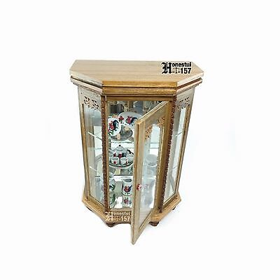 Ancient Thai Traditional Decorated Wooden Cabinet Souvenir Gift Collection Mini