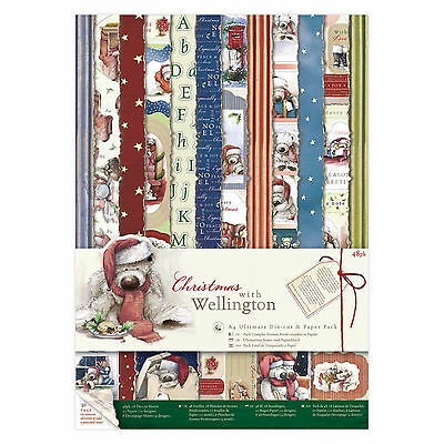 A4 Ultimate Paper & Die Cut Pack - Wellington Christmas - Docrafts