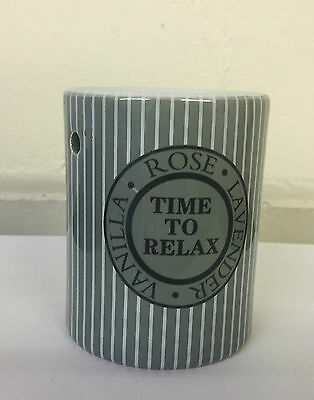 Christmas SALE  Grey & White Oil or Candle Melt Burner ~ Time To Relax LP27558