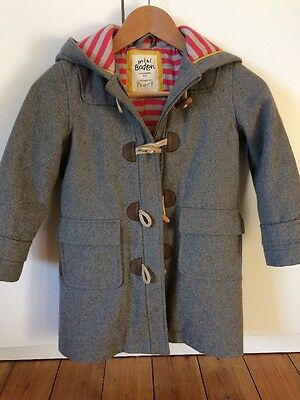 Mini Boden Grey Duffle Coat . Age 5-6 Yrs