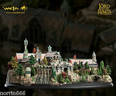 LORD OF THE RINGS RIVENDELL diorama de resina 46cm Weta