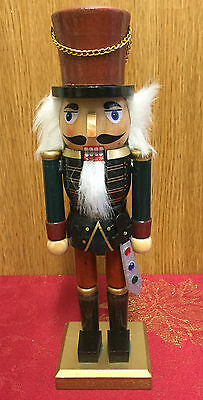 Hand Painted Wooden Nutcracker Soldier Traditional Christmas  ~ Brown Hat 4067