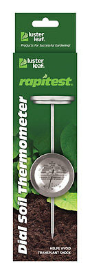 NEW! LUSTER LEAF Rapitest Dial Indoor & Outdoor Soil Thermometer 1630