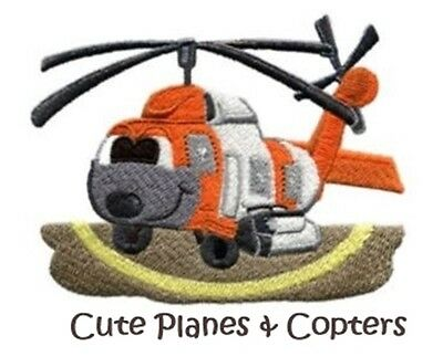 Cute Planes & Copters Collection - Machine Embroidery Designs On Cd