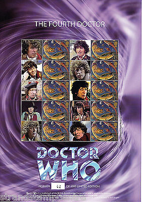 BC-214 - Doctor Who - The Fourth Doctor - Smilers Stamp Sheet