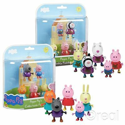 New Peppa Pig Standard / Muddy Puddle 5 Figure Pack George Suzie Action Official