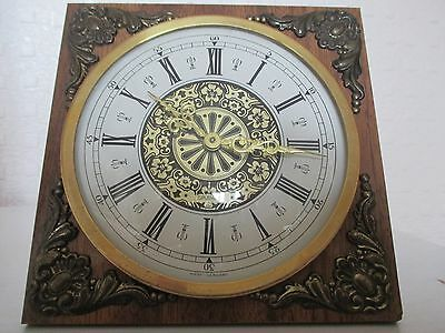 Beautiful West German Splendex Clock with Embossed Brass Features