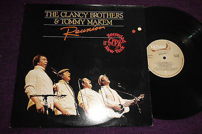 "THE CLANCY BROTHERS &TOMMY MAKEM   ""Reunion "" 1984 LP(IRELAND ) OGHAM  BLB 5009"