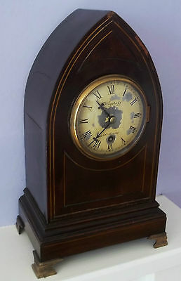 Nice English Fusee Lancet Bracket Clock