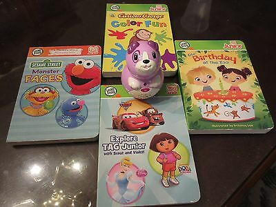 Leap Frog Tag Junior Violet With 4 Books - Used - works great!