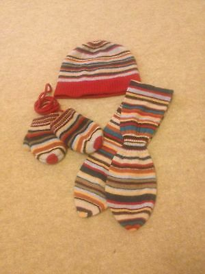 Paul Smith Junior Hat Mitten And Scarf Set Age18 Months -3 Years