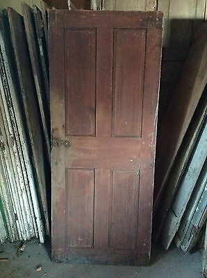 ANTIQUE DOOR NEW ENGLAND 18th CENTURY INTERIOR 4 PANEL ORIGINAL RED PAINT