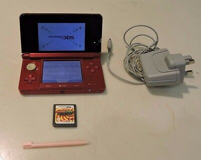 Nintendo 3DS Red Handheld System  (69434)