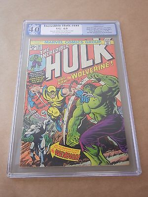 Marvel Comics Incredible Hulk #181 1974 Pgx 4.0 Vg 1St Full Appearance Wolverine