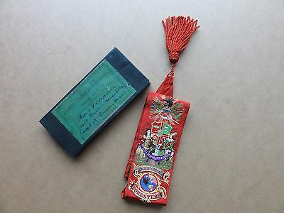 Ancient Order Of Foresters Ribbon/sash In Box