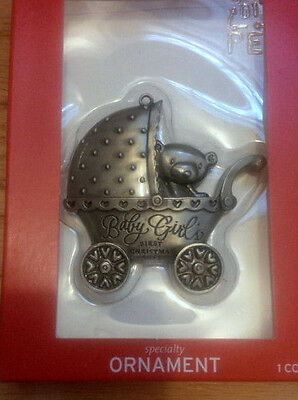"""NEW - """"BABY GIRL First Christmas 2013"""" ornament"""