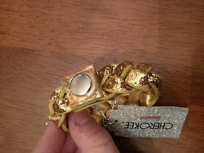 NWT - CHEROKEE - Super cute sparkly gold girl's bracelet