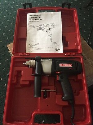 Craftsmanship 1/2 Inch Hammer Drill 6.0 New In Case