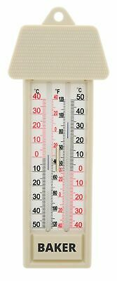 Baker MM2 Max-Min Thermometer with Temperature Range of -40 to 50°C/-40 to 120°F