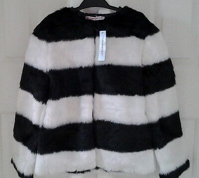 New With Tags Teens/girls/childrens Faux Fur Jacket Age 13-14 Years