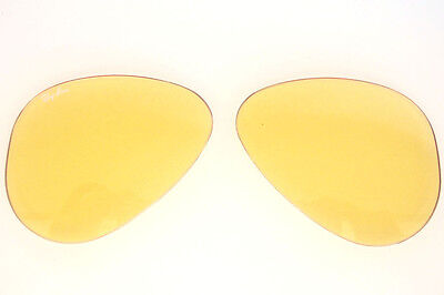 dcec64c680079 Lenti Ricambio Ray Ban 3407 58 Outdoorsman Yellow Ambermatic Replacement  Lenses