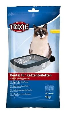 New 1 x Trixie 10 Bags Cat Litter Trays 46 × 59 cm Litter Tray Liners 4044