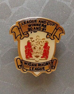 Wigan Rugby League - League & Cup Winners 90 And 91 Badge