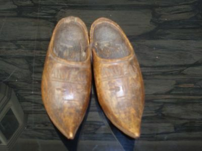 Pair Of Miniature Wooden Shoes