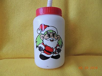 "Green Haired Santa Troll Water Bottle - ""Hills is the place for kids"""