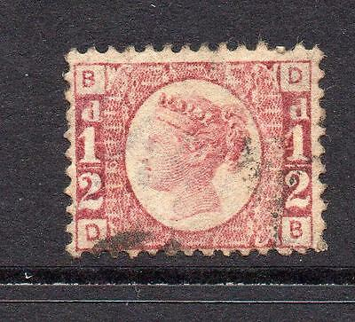 Great Britain 1/2 Penny Stamp c1870 Used Plate 6