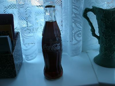 COCA COLA UK 1998 WORLD CUP LIMITED EDITION 330ml GLASS BOTTLE - PERFECT & FULL