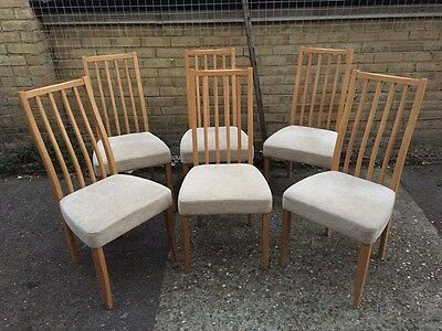 Set Of 6 Modern Ercol Dining Chairs, Clean Condition,