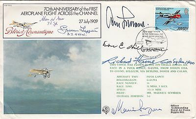 FF5b 70th Anniv  1st Air crossing of Channel Signed A Galland Plus 4