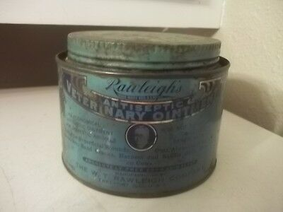 VINTAGE Rawleigh's  Farm Farming Vet Veterinarian OINTMENT TIN ESTATE FIND