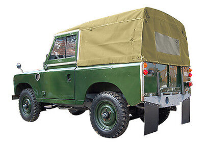 """Land Rover Series 2 & 3 Full 88"""" Hood - Sand - 24 Hour Despatch"""