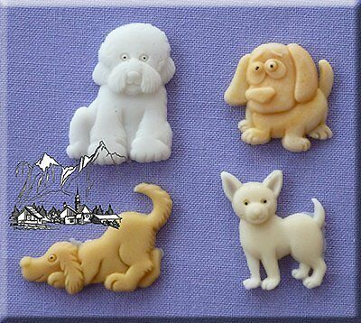 Dogs- 3D Silicone Cake Decorating Moulds Ideal for decorating Cupcakes and that
